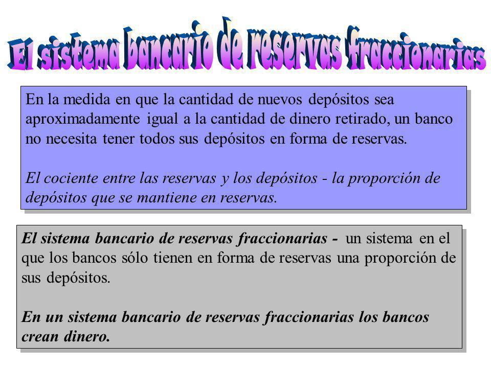 El sistema bancario de reservas fraccionarias