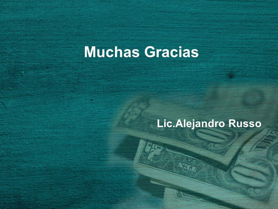 Muchas Gracias Lic.Alejandro Russo