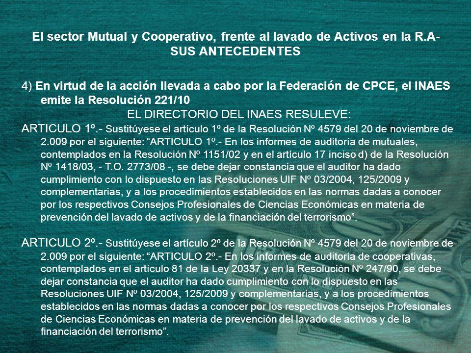EL DIRECTORIO DEL INAES RESULEVE: