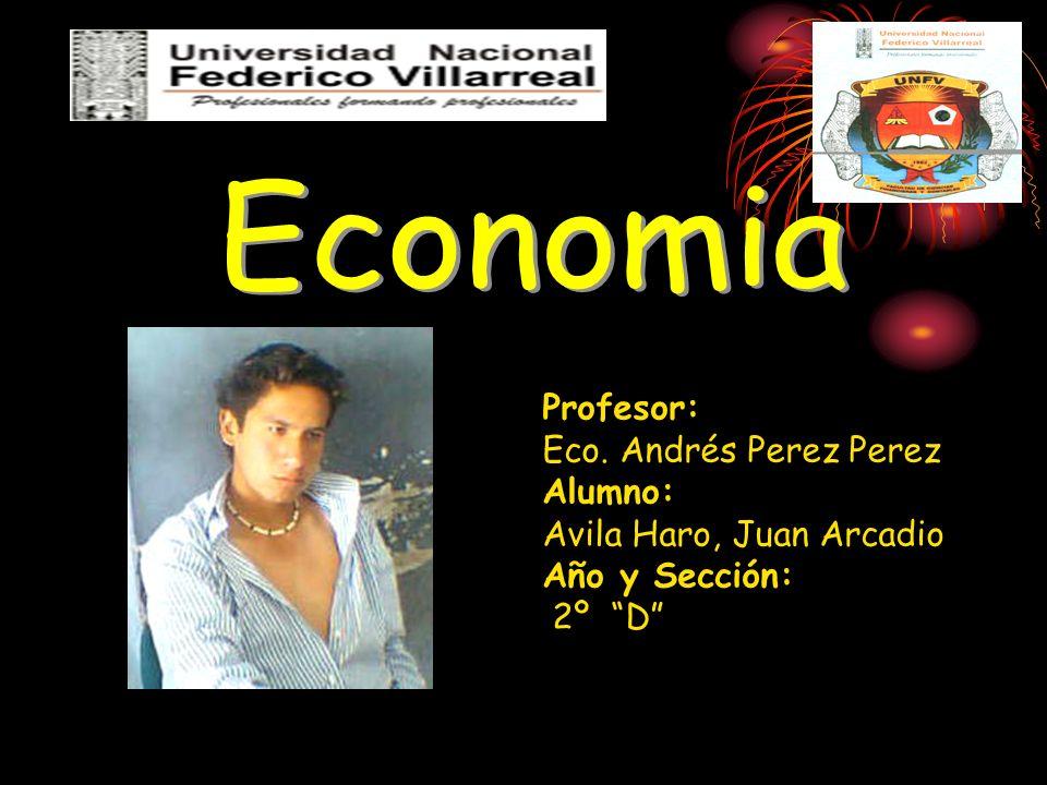 Economia Profesor: Eco.