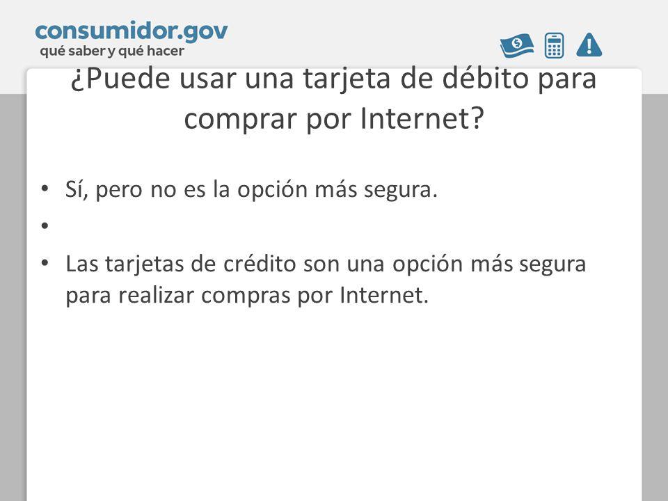 ¿Puede usar una tarjeta de débito para comprar por Internet
