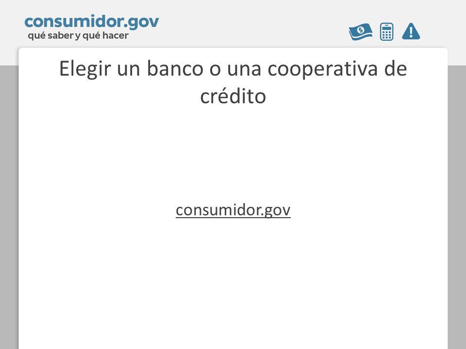 Elegir un banco o una cooperativa de crédito