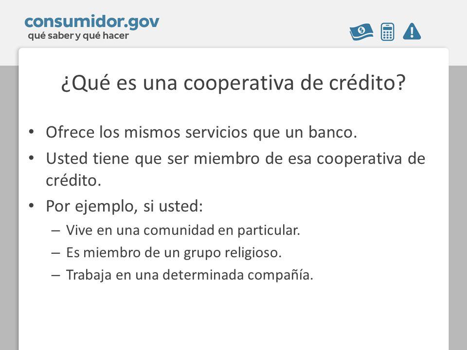 ¿Qué es una cooperativa de crédito