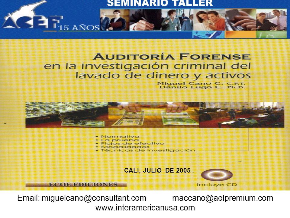 SEMINARIO TALLER CALI, JULIO DE 2005.