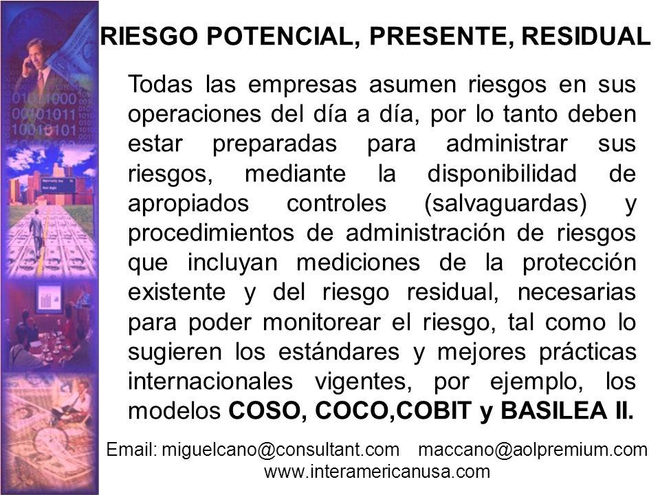 RIESGO POTENCIAL, PRESENTE, RESIDUAL