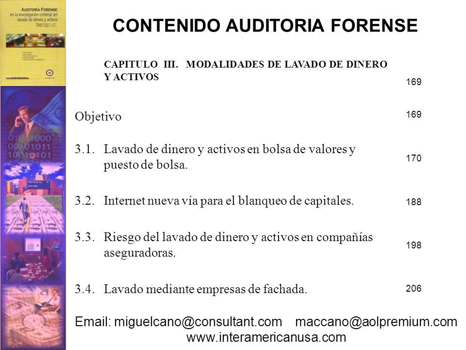CONTENIDO AUDITORIA FORENSE