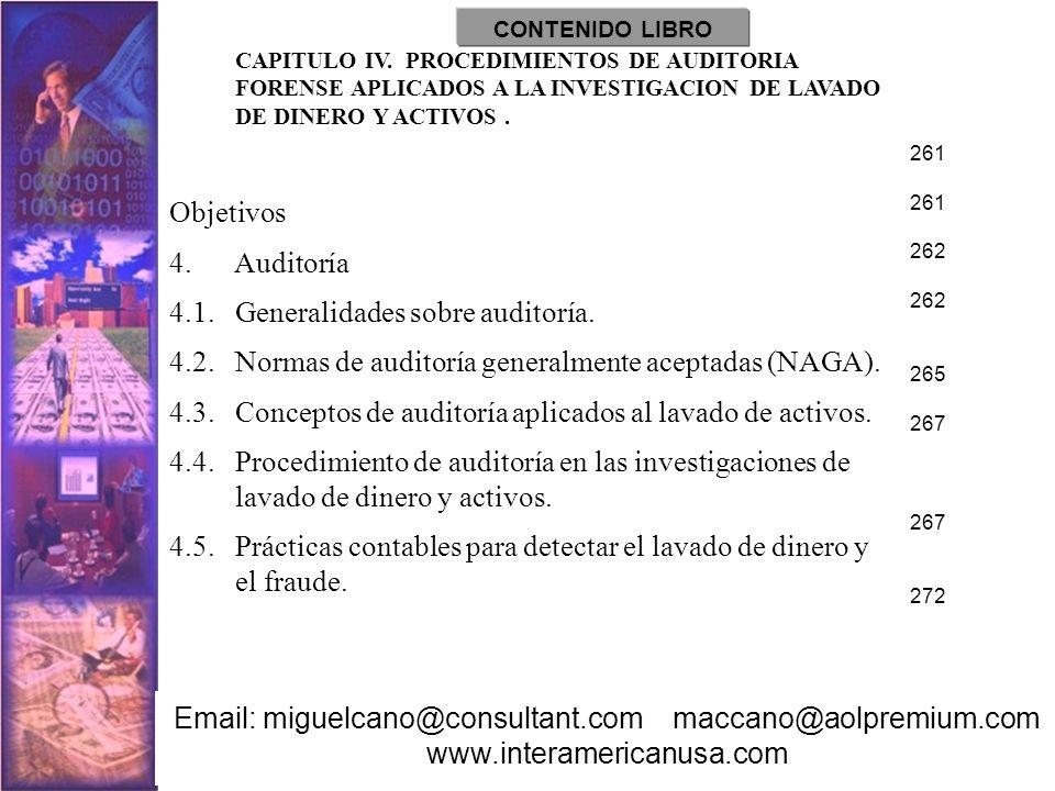 4.1. Generalidades sobre auditoría.