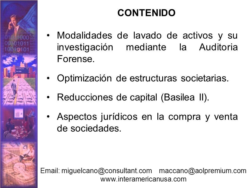 Optimización de estructuras societarias.