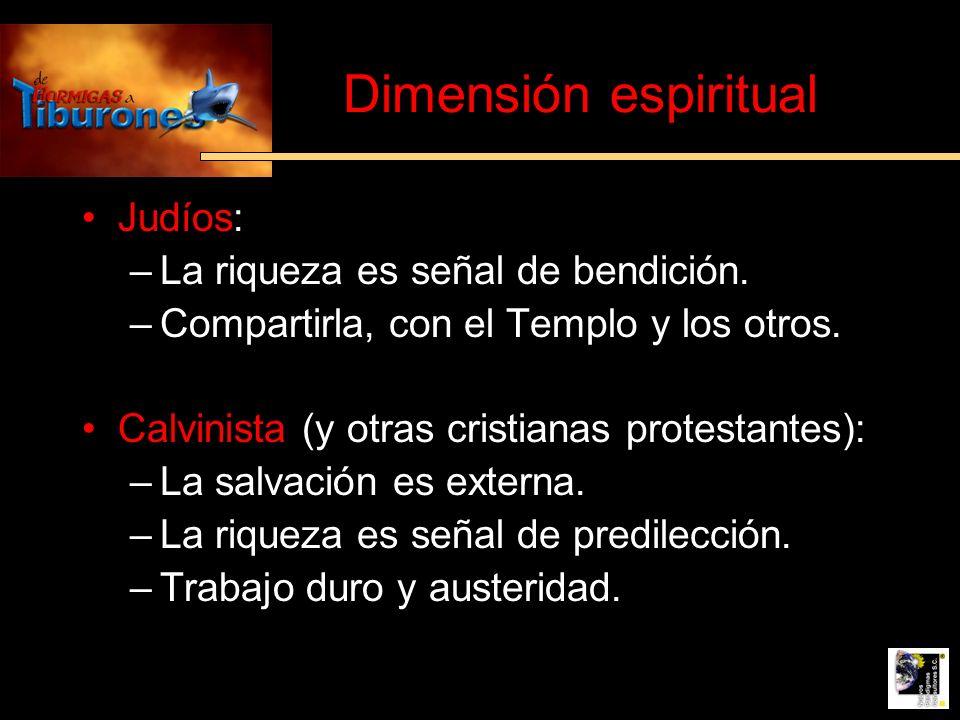 Dimensión espiritual Judíos: La riqueza es señal de bendición.