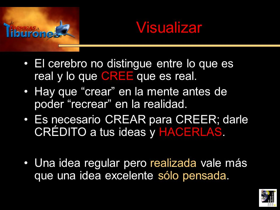 Visualizar El cerebro no distingue entre lo que es real y lo que CREE que es real.