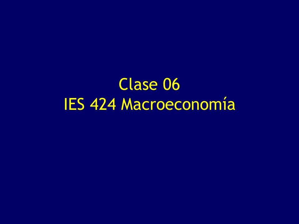 Clase 06 IES 424 Macroeconomía
