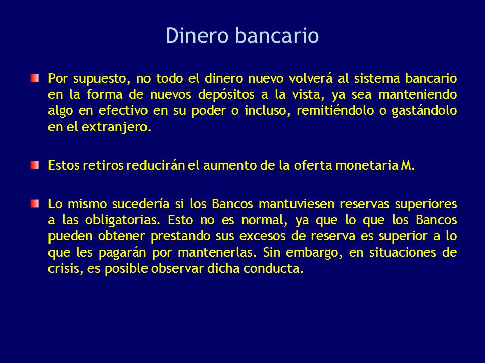 Dinero bancario