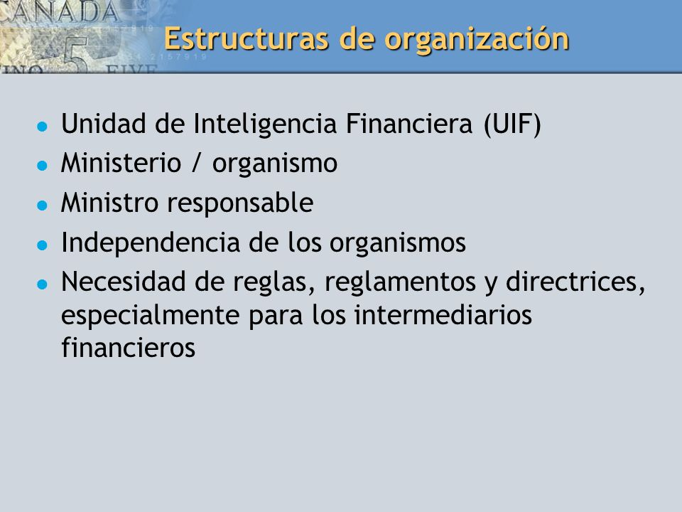 Estructuras de organización