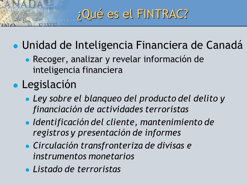¿Qué es el FINTRAC Unidad de Inteligencia Financiera de Canadá
