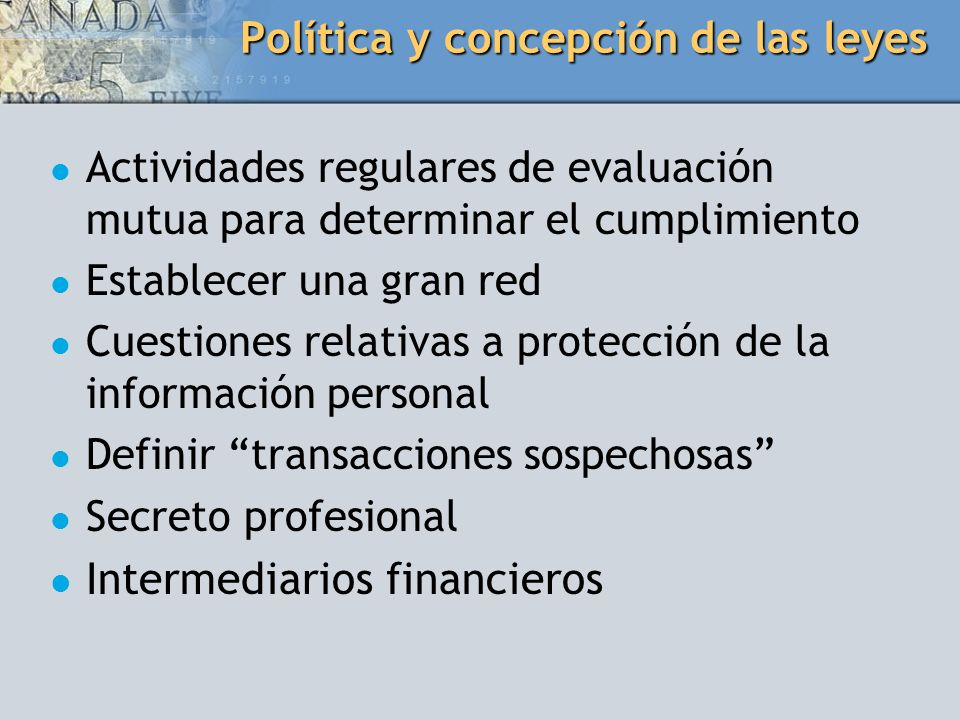 Política y concepción de las leyes