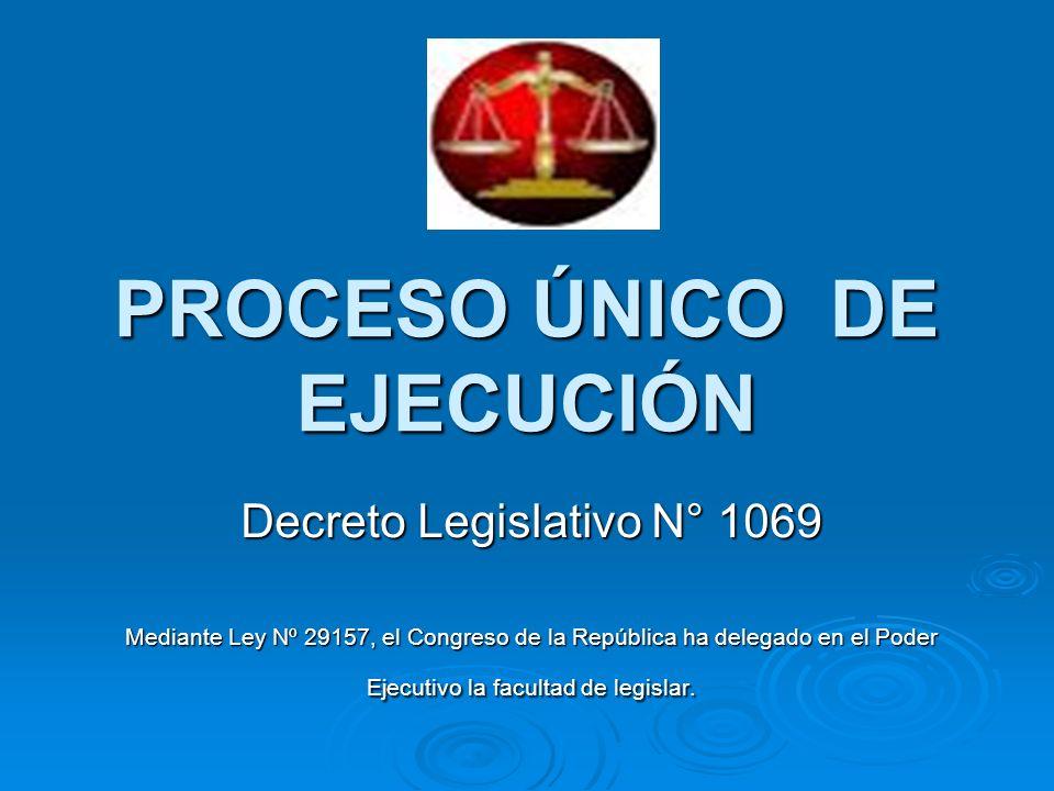 PROCESO ÚNICO DE EJECUCIÓN