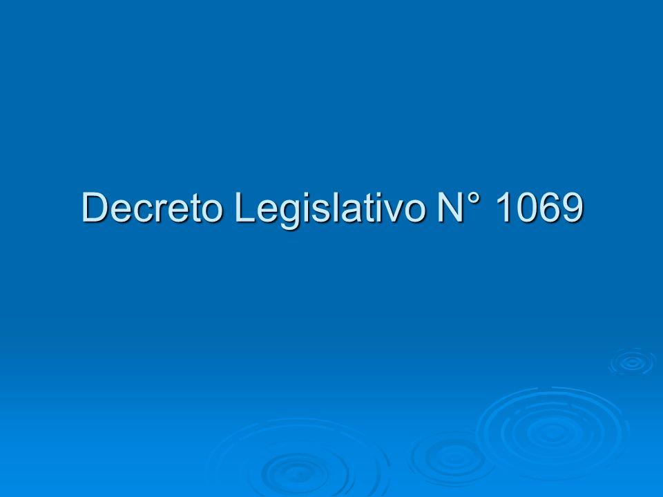 Decreto Legislativo N° 1069