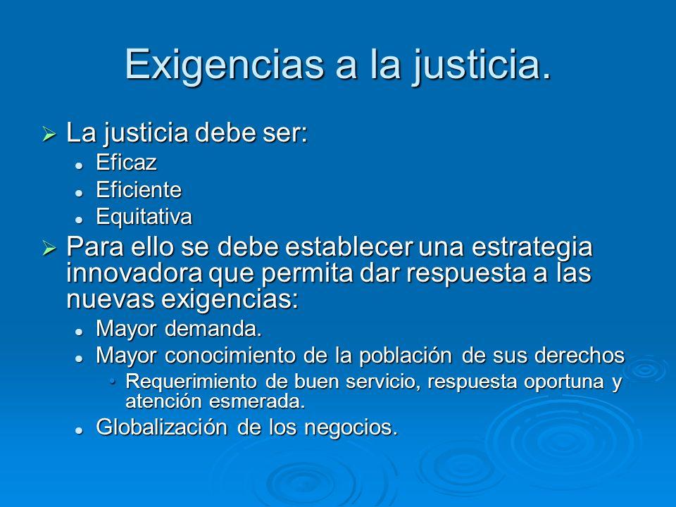 Exigencias a la justicia.