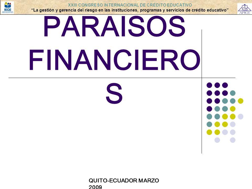LOS PARAISOS FINANCIEROS