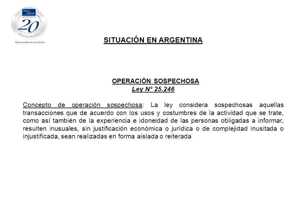 SITUACIÓN EN ARGENTINA