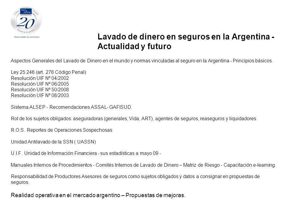 Lavado de dinero en seguros en la Argentina -