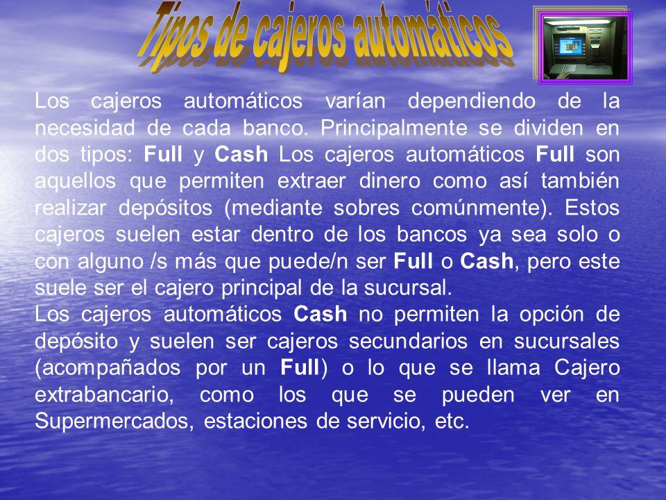 Tipos de cajeros automáticos