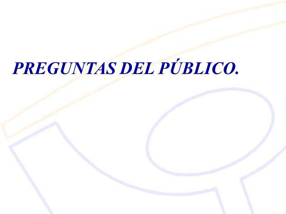 PREGUNTAS DEL PÚBLICO.