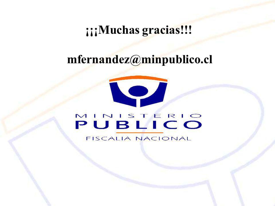 ¡¡¡Muchas gracias!!! mfernandez@minpublico.cl