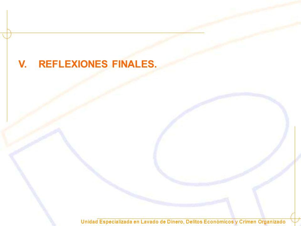 V. REFLEXIONES FINALES.