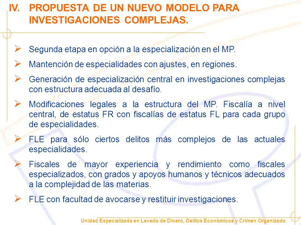 IV. PROPUESTA DE UN NUEVO MODELO PARA INVESTIGACIONES COMPLEJAS.
