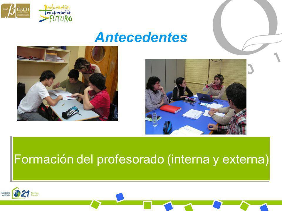 Formación del profesorado (interna y externa)