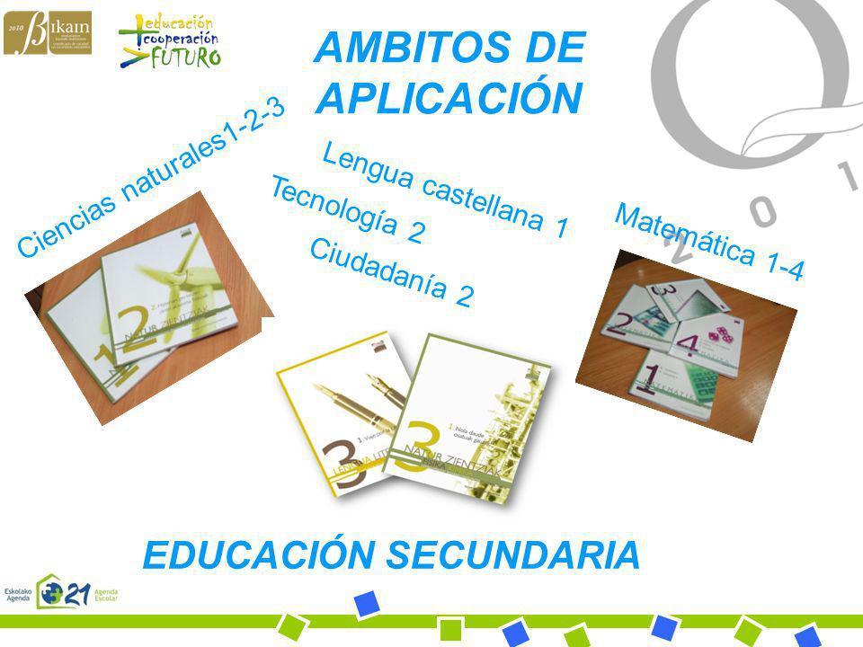 AMBITOS DE APLICACIÓN EDUCACIÓN SECUNDARIA Ciencias naturales1-2-3