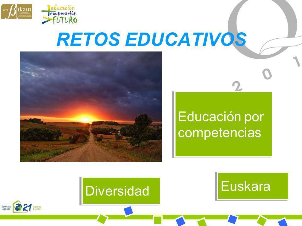 RETOS EDUCATIVOS Educación por competencias Euskara Diversidad