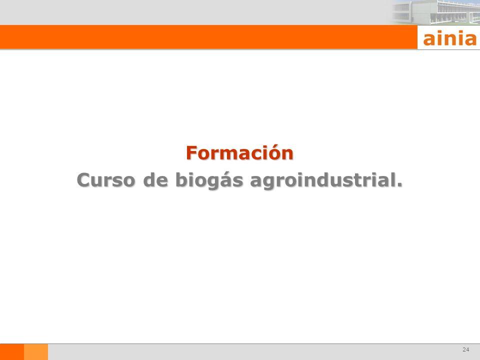 Curso de biogás agroindustrial.