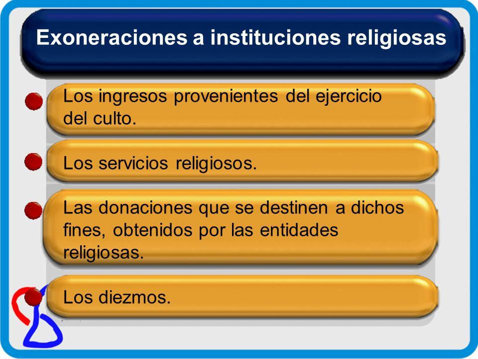 Exoneraciones a instituciones religiosas