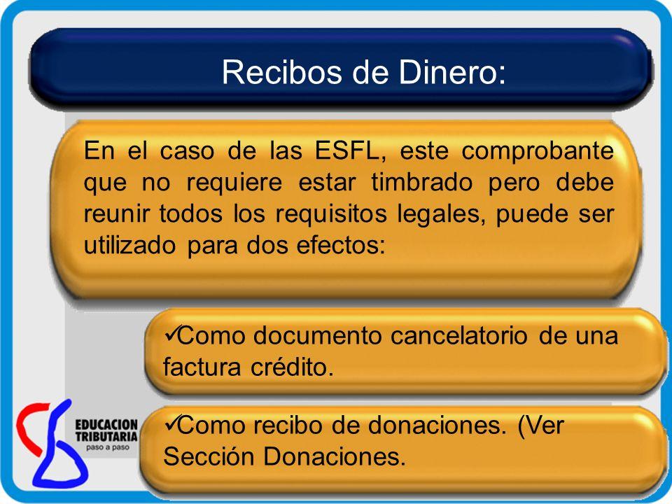 Recibos de Dinero: