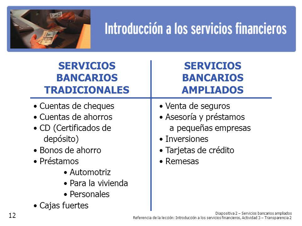 SERVICIOS BANCARIOS AMPLIADOS