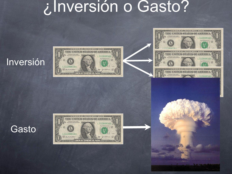 ¿Inversión o Gasto Inversión Gasto