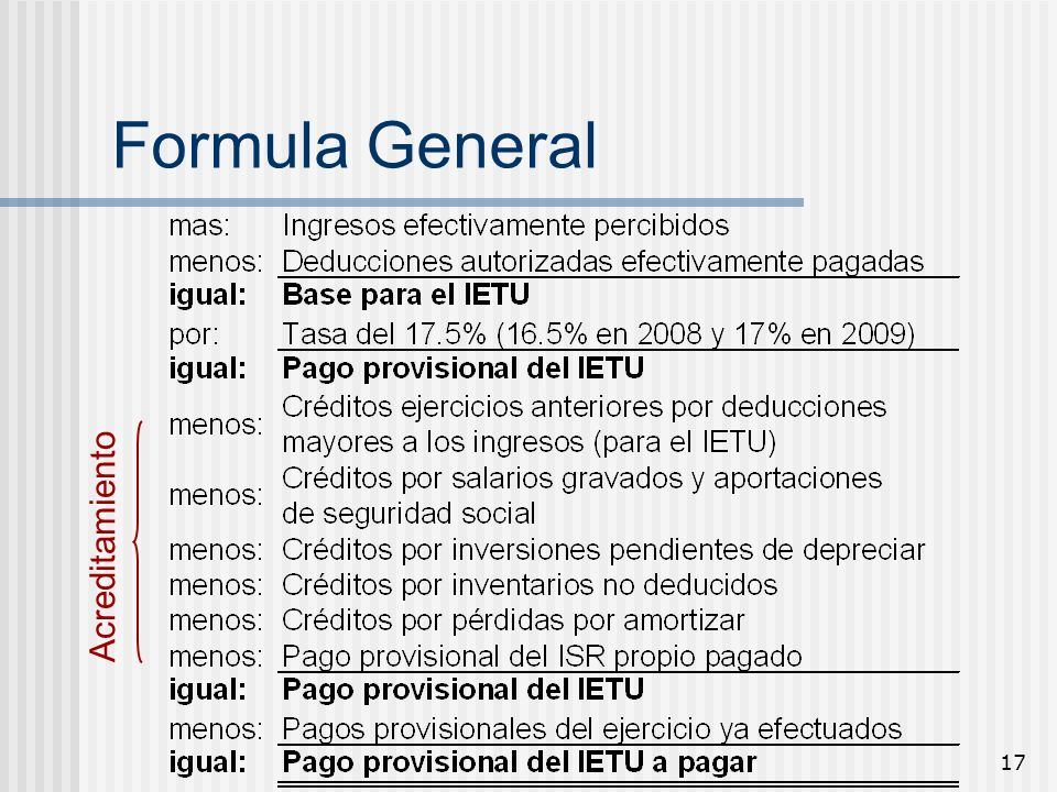 Formula General Acreditamiento