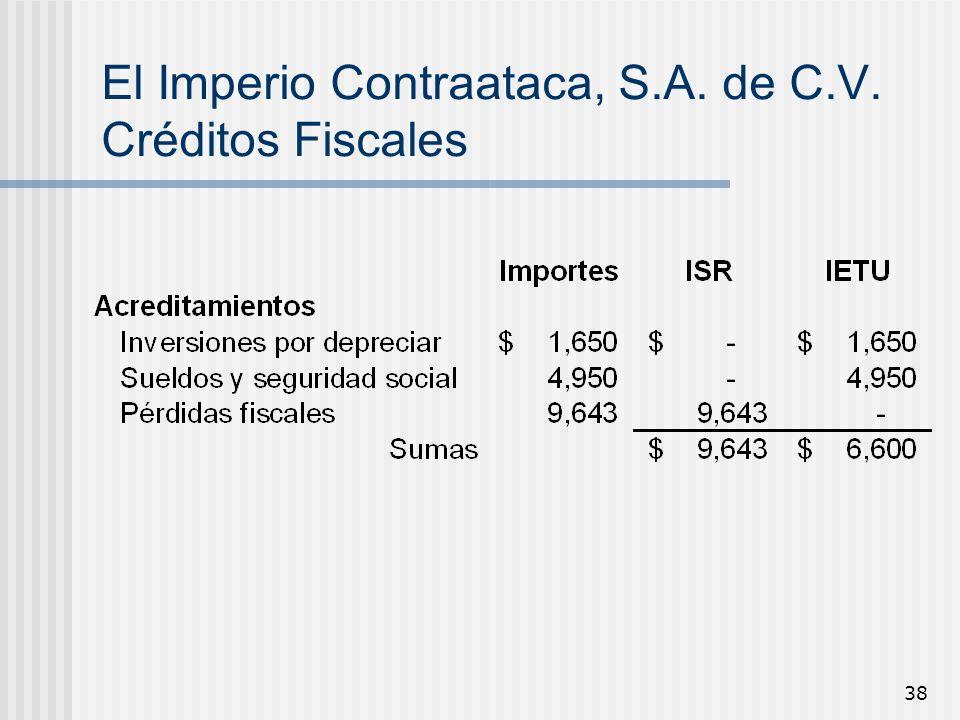 El Imperio Contraataca, S.A. de C.V. Créditos Fiscales