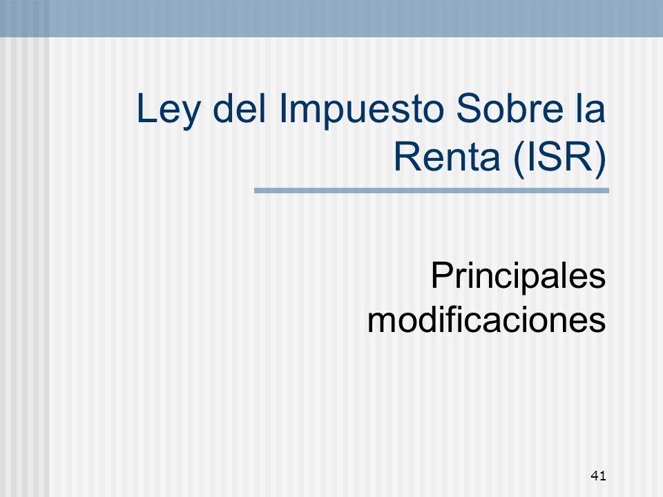 Ley del Impuesto Sobre la Renta (ISR)
