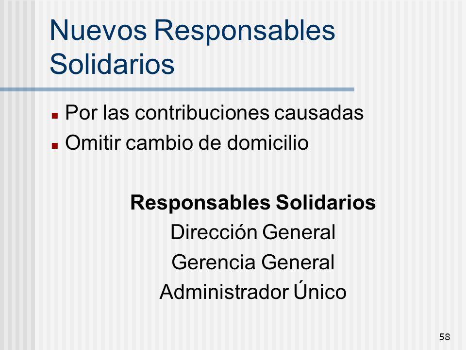 Nuevos Responsables Solidarios