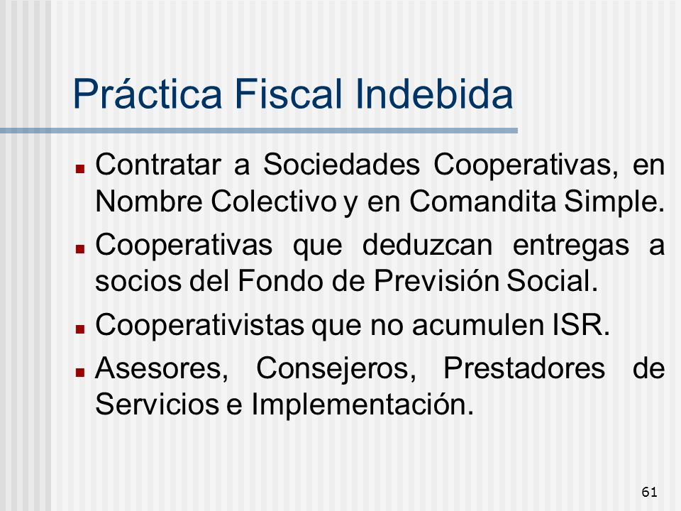 Práctica Fiscal Indebida