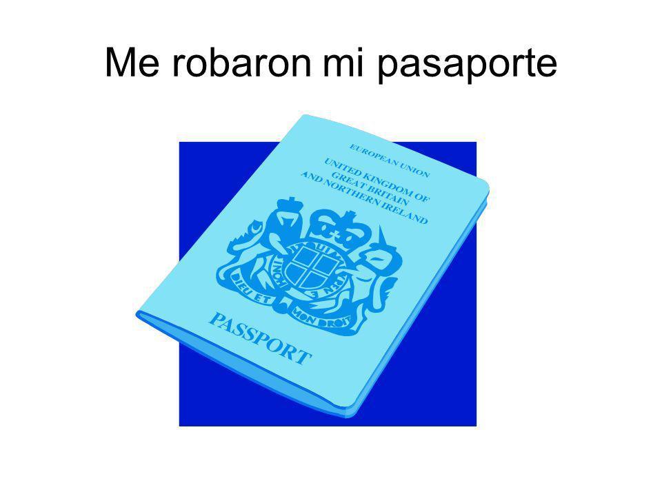 Me robaron mi pasaporte