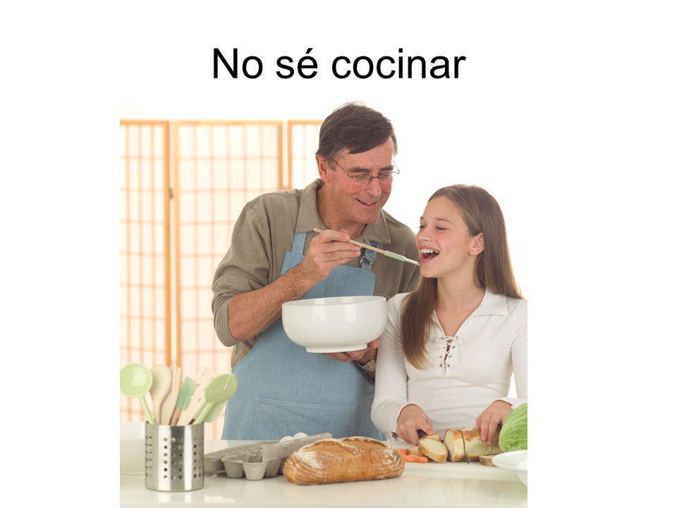 No sé cocinar