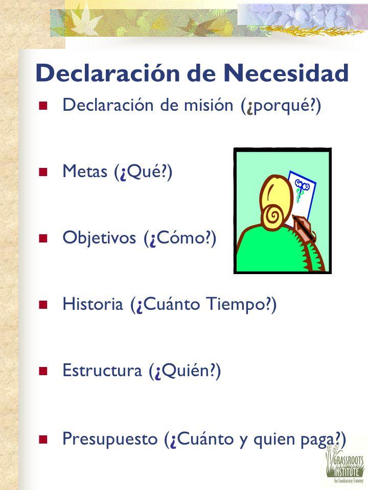 Declaración de Necesidad