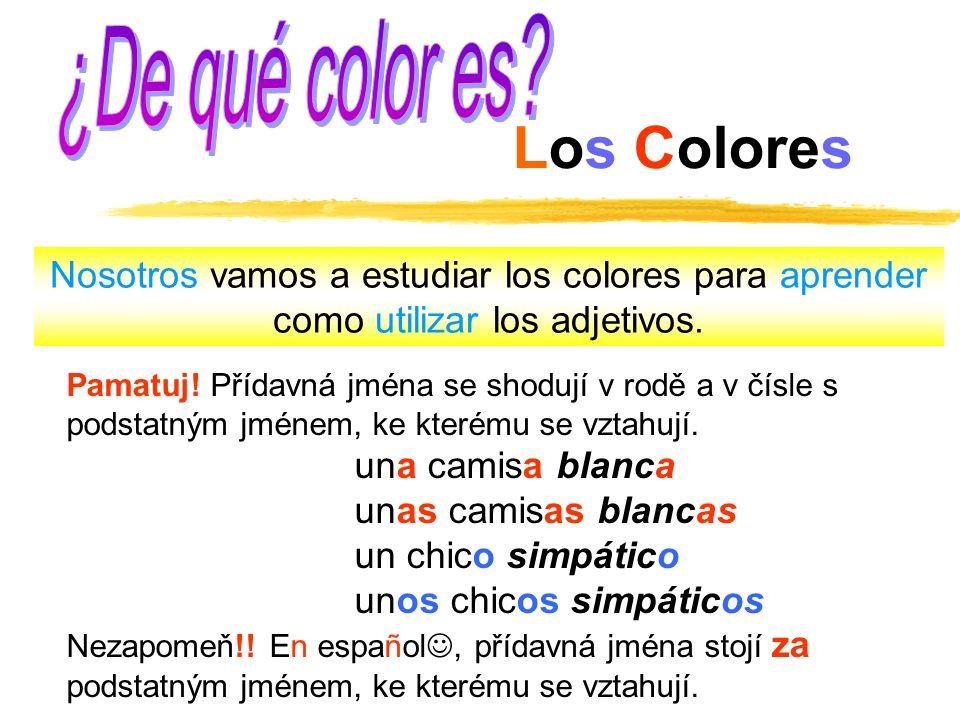 ¿De qué color es Los Colores