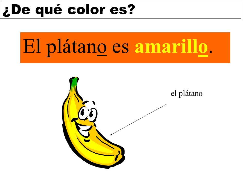 El plátano es amarillo. el plátano