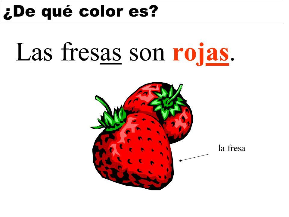 Las fresas son rojas. la fresa