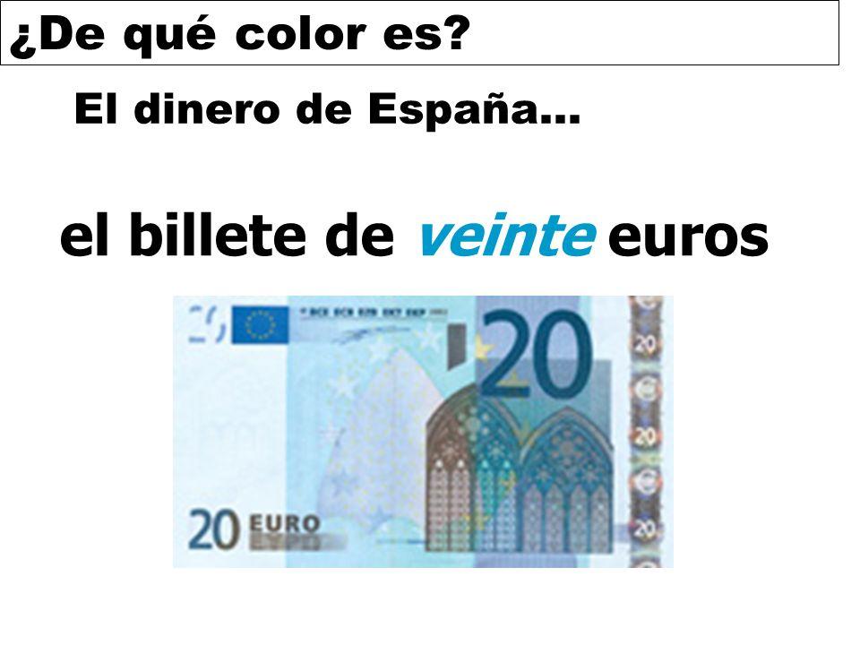 el billete de veinte euros